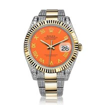 Rolex Datejust II Gold/Steel 41mm Orange Roman numerals United States of America, New York, New York