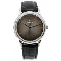 Zenith Elite occasion 39mm Noir Cuir de crocodile