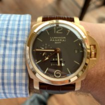 Panerai Luminor 1950 8 Days GMT Rose gold 44mm Brown Arabic numerals United States of America, Wisconsin, Madison
