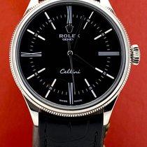 Rolex Cellini Time White gold 39mm Black