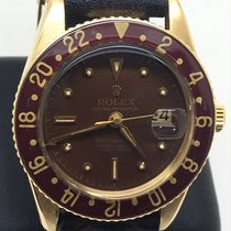 Rolex GMT-Master Yellow gold 38mm Brown No numerals
