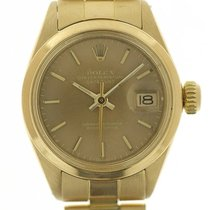 Rolex Oyster Perpetual Lady Date Gelbgold 26mm Champagnerfarben