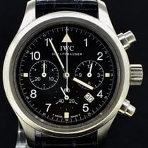 IWC Pilot Chronograph Steel Black Dial 36MM,Box&Papers/1998 MINT