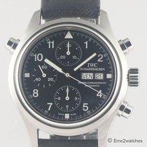 IWC Pilot Double Chronograph Acél 39mm Fekete Arab