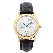 Ulysse Nardin Yellow gold Automatic Silver No numerals 38mm pre-owned