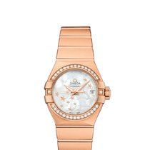 Omega Red gold White new Constellation Ladies