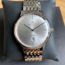 Hamilton Intra-Matic pre-owned 42mm Silver Date Steel