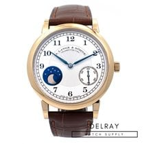 A. Lange & Söhne 1815 pre-owned 37.5mm Moon phase Crocodile skin