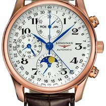 Longines Rose gold Automatic Silver 40mm new Master Collection