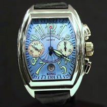 Franck Muller Platinum Automatic Blue Arabic numerals 40mm pre-owned Conquistador