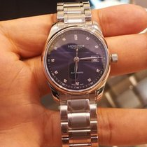 Longines Master Collection L2.257.4.97.6 Longines MASTER Acciaio Blu Diamanti 29mm new