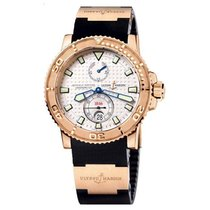 Ulysse Nardin Yellow gold Automatic Silver (solid) No numerals 42.7mm new Maxi Marine Diver