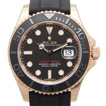 Rolex Yacht Master 18k Rose Gold Black Automatic 116655BK