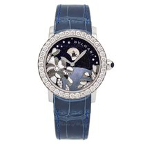 Bulgari White gold Automatic Blue 37mm new Bulgari