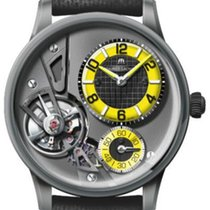 Maurice Lacroix Masterpiece Gravity Staal 43mm Zwart