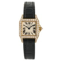 Cartier Santos Demoiselle pre-owned 20mm White Crocodile skin