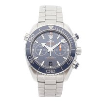 Omega Seamaster Planet Ocean Chronograph Steel 45.5mm Blue No numerals