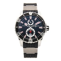 Ulysse Nardin Diver Chronometer pre-owned 40mm Black Date Fold clasp