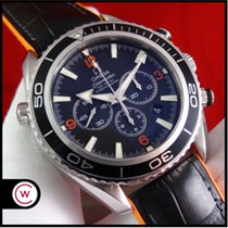Omega Seamaster Planet Ocean Chronograph Steel 45,5mm Black Arabic numerals
