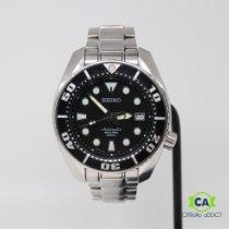 Seiko Steel 45mm Black No numerals
