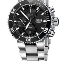 Oris Aquis Chronograph, Black Dial, Steel Bracelet