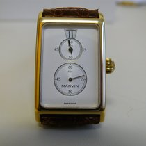 Marvin new Manual winding Only Original Parts Yellow gold Mineral Glass