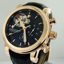 Graham new Automatic Small seconds Luminous hands 48mm Rose gold Sapphire crystal