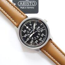 Aristo Pilot Acero 42mm Negro Arábigos