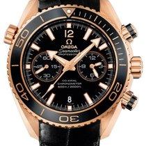 Omega Roségold Automatik Schwarz neu Seamaster Planet Ocean Chronograph