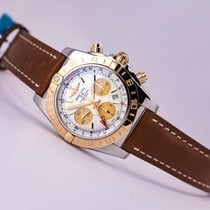 Breitling Chronomat 44 GMT 18kt gold/Steel Mother of Pearl Dial
