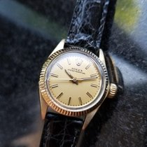 Rolex Solid 14K Gold Ladies Oyster Perpetual 6719 Automatic...