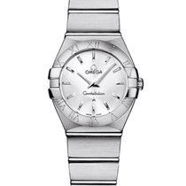 Omega Constellation Quartz Acero 24mm Plata