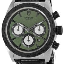 Tudor Fastrider Chrono Steel 42mm Green No numerals United States of America, New Jersey, Edgewater