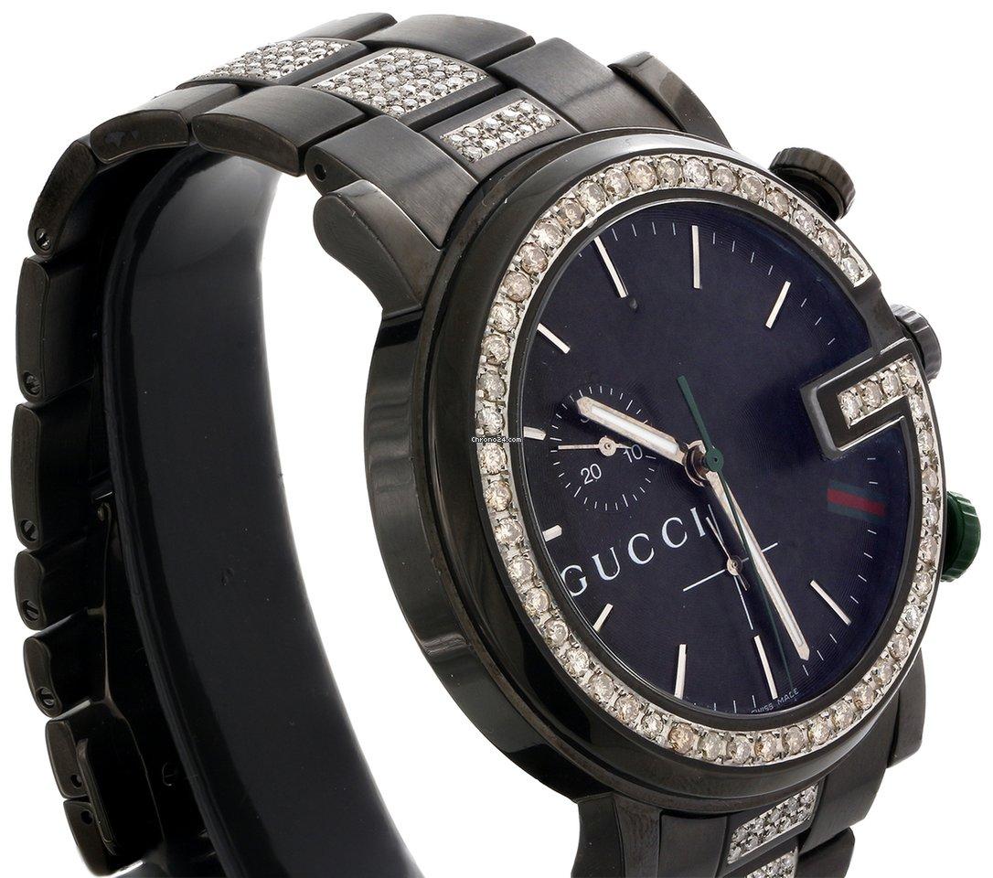 f6c19f5a83e Gucci Diamond Gucci Watch Mens 101G Ya101331 Black PVD... for AU ...