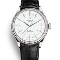 Rolex Cellini Time Oro blanco 39mm Blanco Sin cifras