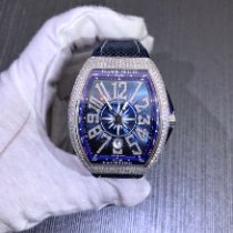 Franck Muller Steel Automatic Blue Arabic numerals 45mm new
