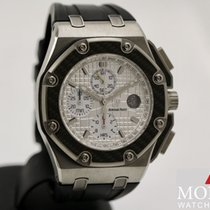 愛彼 Royal Oak Offshore Chronograph 鈦 42mm 銀色 無數字