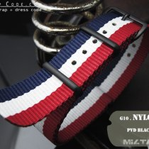 MiLTAT Thick 20mm French Flag NATO Band PVD