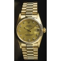 Rolex Midsize (31mm) 18K Yellow Gold President Model 68278...