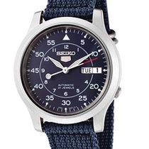 Seiko MILITARY SNK807K2 NYLON AUTOMATICO reloj hombre azul