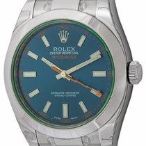 Rolex : Milgauss :  116400GV Z Blue :  Stainless Steel : blue...
