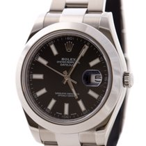 Rolex Datejust II Oyster Perpetual Black Dial 116300 Men's...