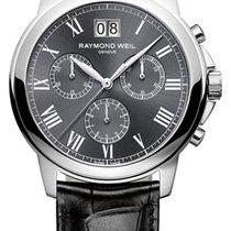 Raymond Weil Tradition Quartz Chronograph Steel Mens Strap...