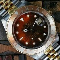 Rolex GMT-Master Steel & Gold Burn Root Beer Dial
