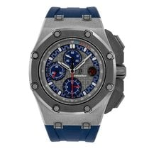 Audemars Piguet Royal Oak Offshore Chronograph Platin 44mm Grau Keine Ziffern