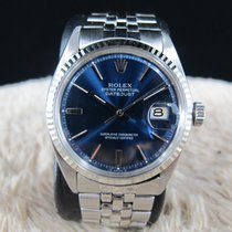 劳力士  DATEJUST 1601 SS Glossy Blue Dial with Folded Jubilee