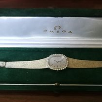 Omega de Ville 18k white gold ladies with 32 Diamonds 0,46ct