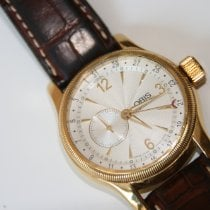 Oris Yellow gold Automatic White Arabic numerals 39mm pre-owned Big Crown