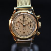 Patek Philippe Chronograph Yellow gold 35.5mm Silver Roman numerals