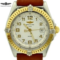 Breitling Wings Lady Gold/Stahl 31mmmm Silber Arabisch